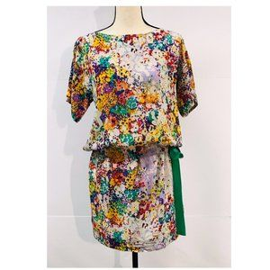 Ali Ra Tunic Top Yellow Red Floral Dress